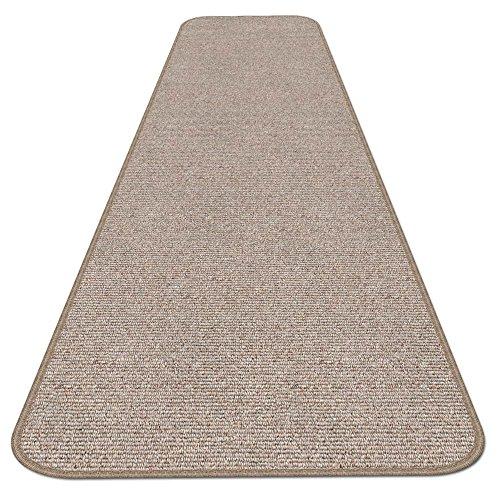 Skid resistant carpet runner pebble beige 6 ft x 27 for Pet resistant carpet