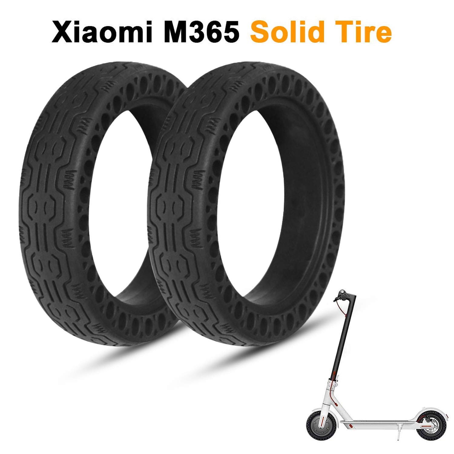 LuYang Solid Tire Replacement for Electric Scooter Xiaomi Mi m365 / gotrax gxl V2,8.5 inches Solid Tires Explosion-Proof Tire for Xiaomi Mijia M365 Electric Scooter【Two Piece/Black】 by LuYang