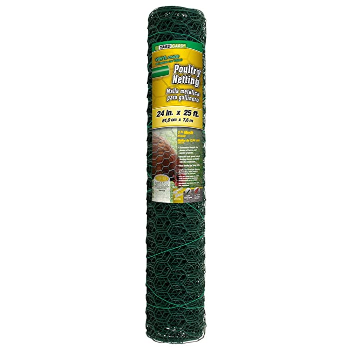 YARDGARD 308452B 2 Foot X 25 Foot 1 Inch Mesh PVC Coated Poultry Netting