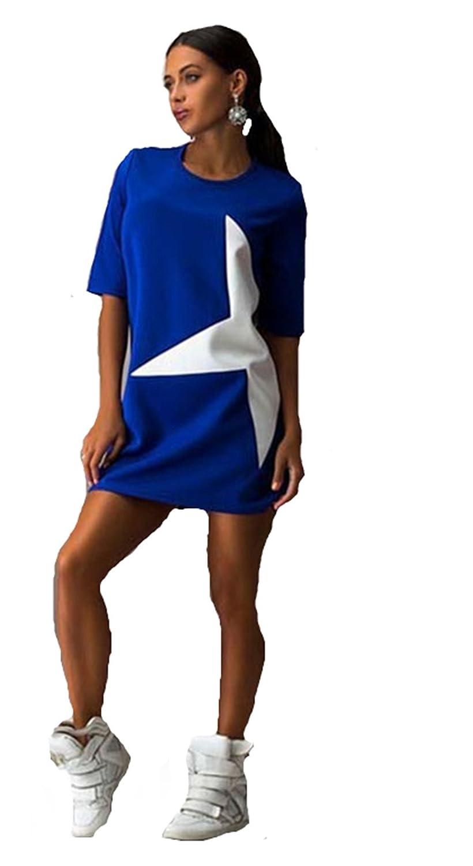 Ufirstever Damen Top Bluse Mini Sweatshirt Kleid Sport Fitness ...