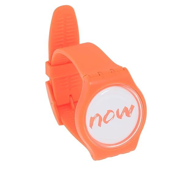 Now Watch - reloj de adorno que simplemente dice «now» («ahora»