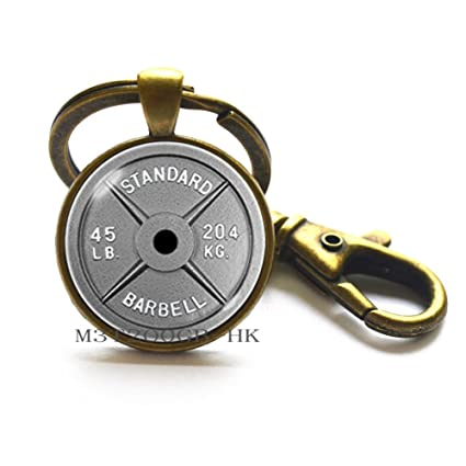 Llavero de mancuernas de pesas para entrenamiento, fitness, joyas ...