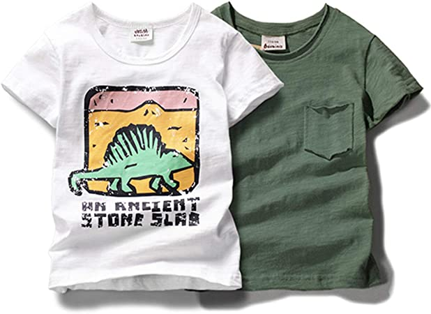 Boys Kids T-Shirts Casual Wear Crew Neck Printed Short Sleeve GREY Tops Yr 4-14