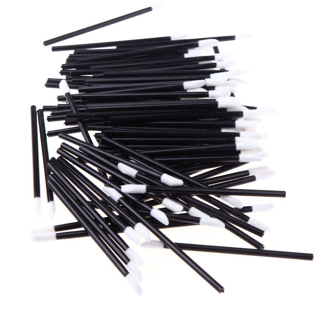 DierCosy Five Season 100pcs Disposable Lipbrush Lip Gloss Brush Wands Lipstick Gloss Applicators Makeup Tool