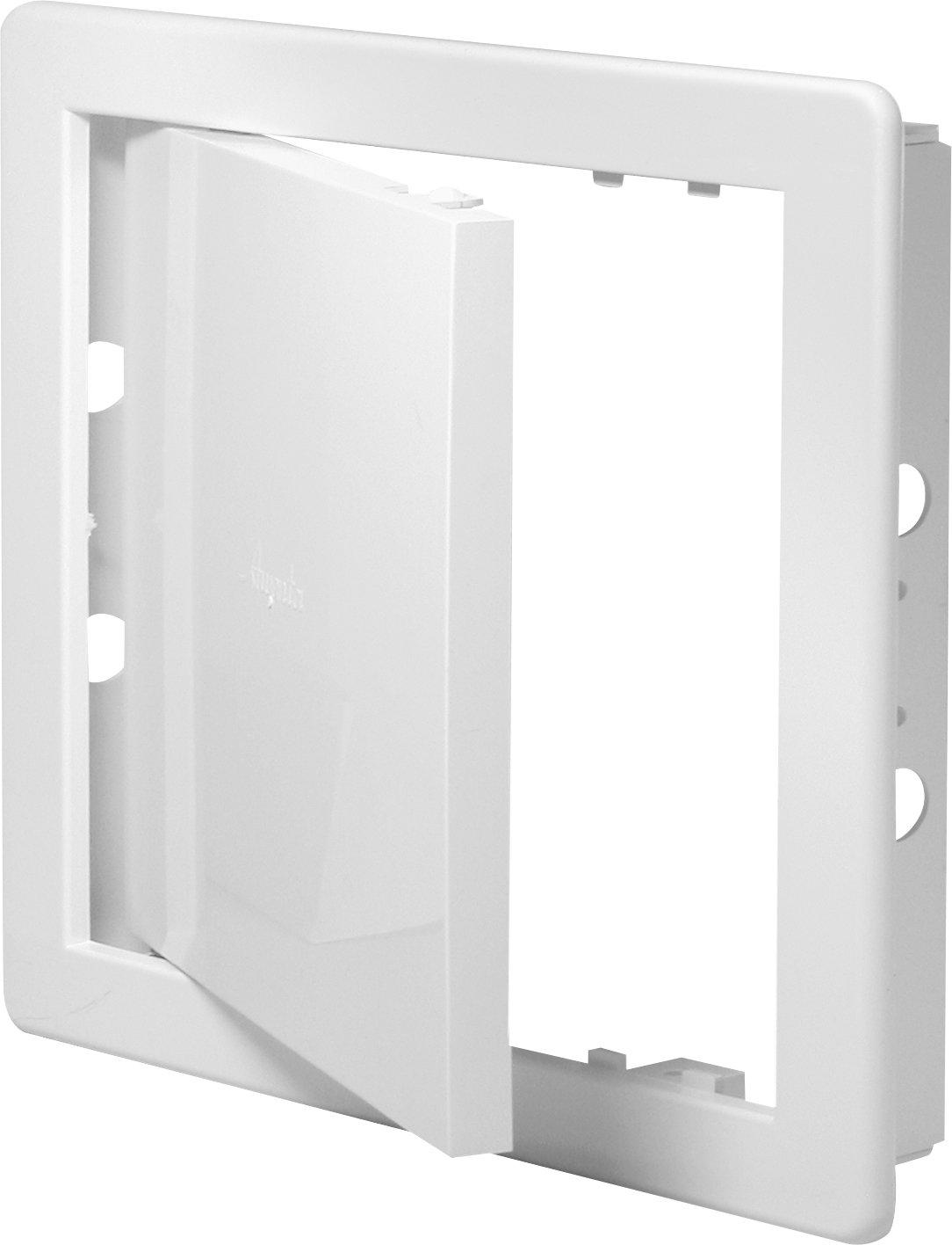MKK 200 x 200 mm (20 x 20cm) Trappe de révision en plastique blanc – Trappe de révision Trappe de maintenance Trappe de nettoyage Ouverture de maintenance MKK-SHOP