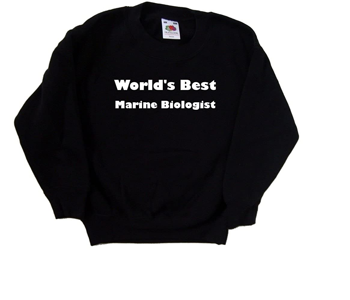 Worlds Best Marine Biologist Black Kids Sweatshirt