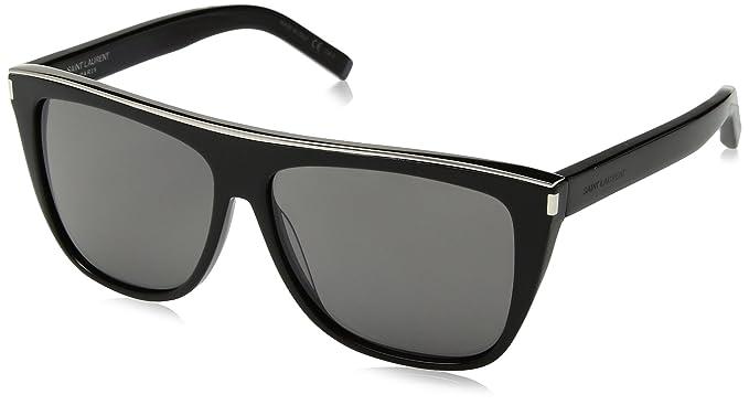 0eb6260b2c2 Saint Laurent SL1 COMBI 001 Black SL1 COMBI Pilot Sunglasses Lens ...