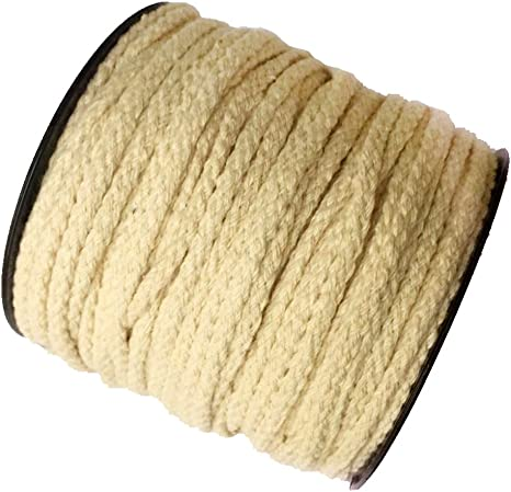 F Fityle Rollo algodón Cuerda 4 mm Hilo Hilos Hilo Ganchillo macramé algodón Cuerda algodón de cordón para Manualidades, algodón, Beige, 50 m: Amazon.es: Hogar