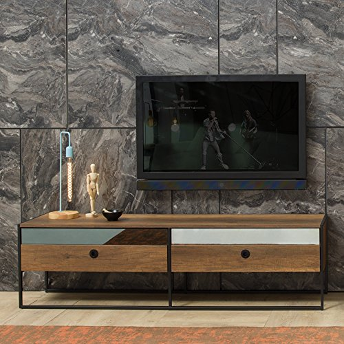 Adam and Illy VIR0885 Virtus TV Stand, Baroque/Black -