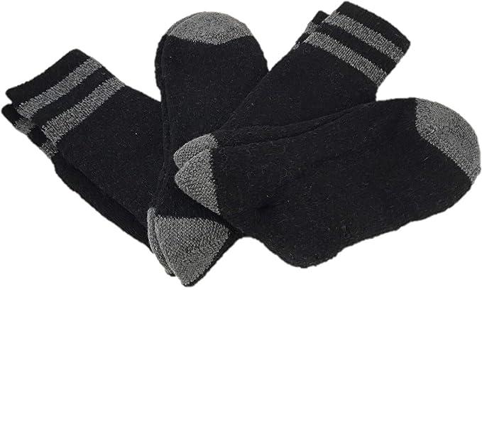 Stanley Mens Wool Cushioned Work Socks, Pack of 2 Pair (Black)