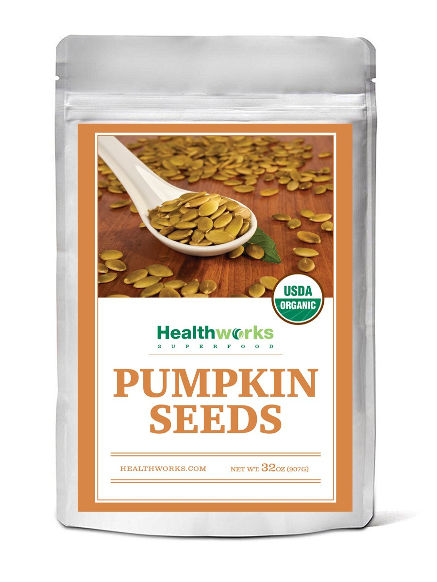 Healthworks Pumpkin Seeds Shelled Organic, 2lb