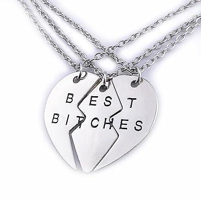 Amazon cosplaywho bff best bitches split heart pendant necklace cosplaywho bff best bitches split heart pendant necklace 3 pc aloadofball Gallery