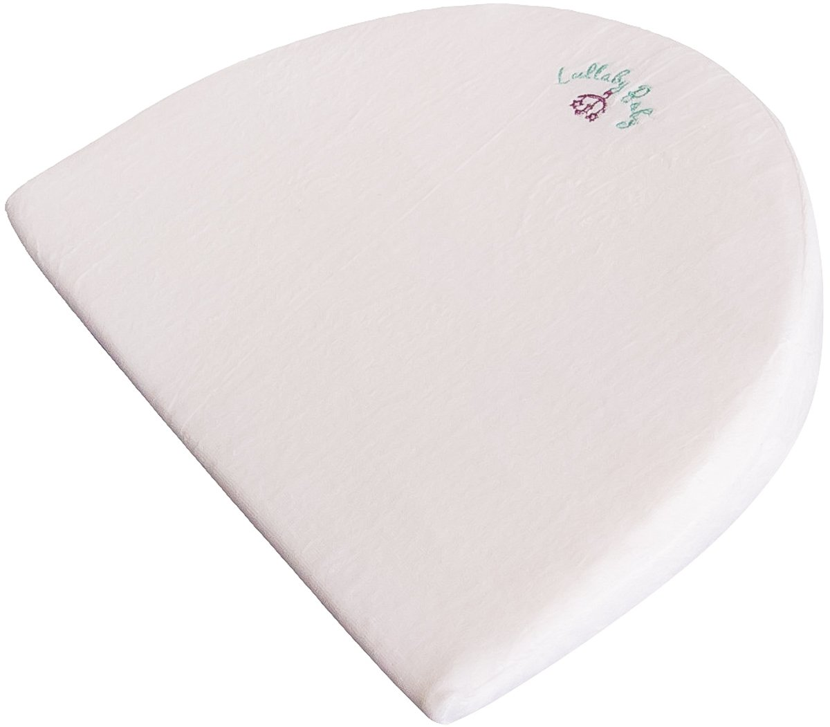 Lullaby Baby CPSC Lab Approved Large Wedge Pillow Infant Newborn Waterproof Large Size Memory Foam Foldable 12 Degree Incline Sleeper Acid Reflux For Bassinet by Lullaby Baby