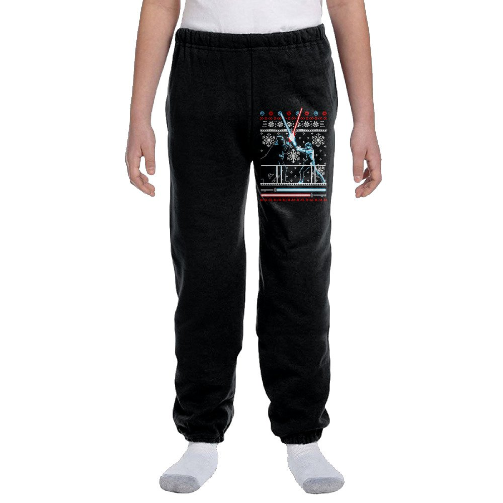 Darth Vader Duel Ugly Sweater Christmas Youth Basics Fleece Pocketed Sweatpants