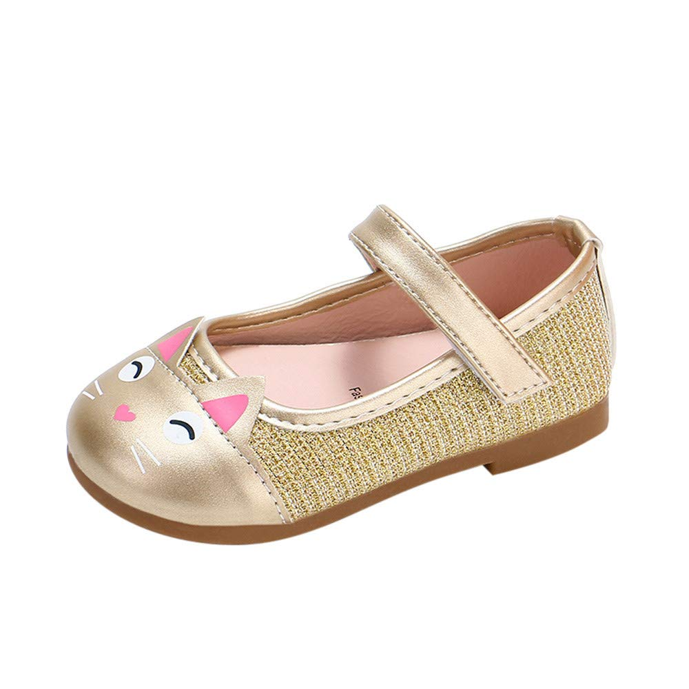 for Shoes,AIMTOPPY Girls Cute Cartoon Cat Pattern Print Princess Shoes Small Shoes