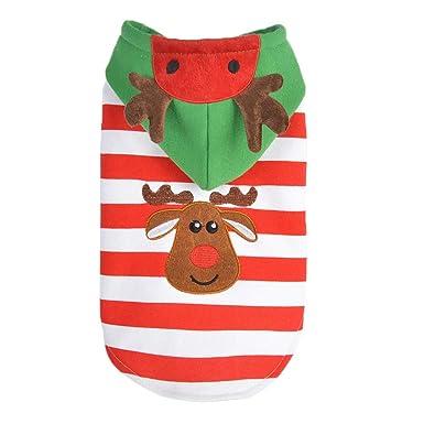Chaqueta con capucha para mascotas de Navidad, perro ...