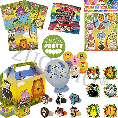 Pre filled children/'s party bags Jungle Animal Theme