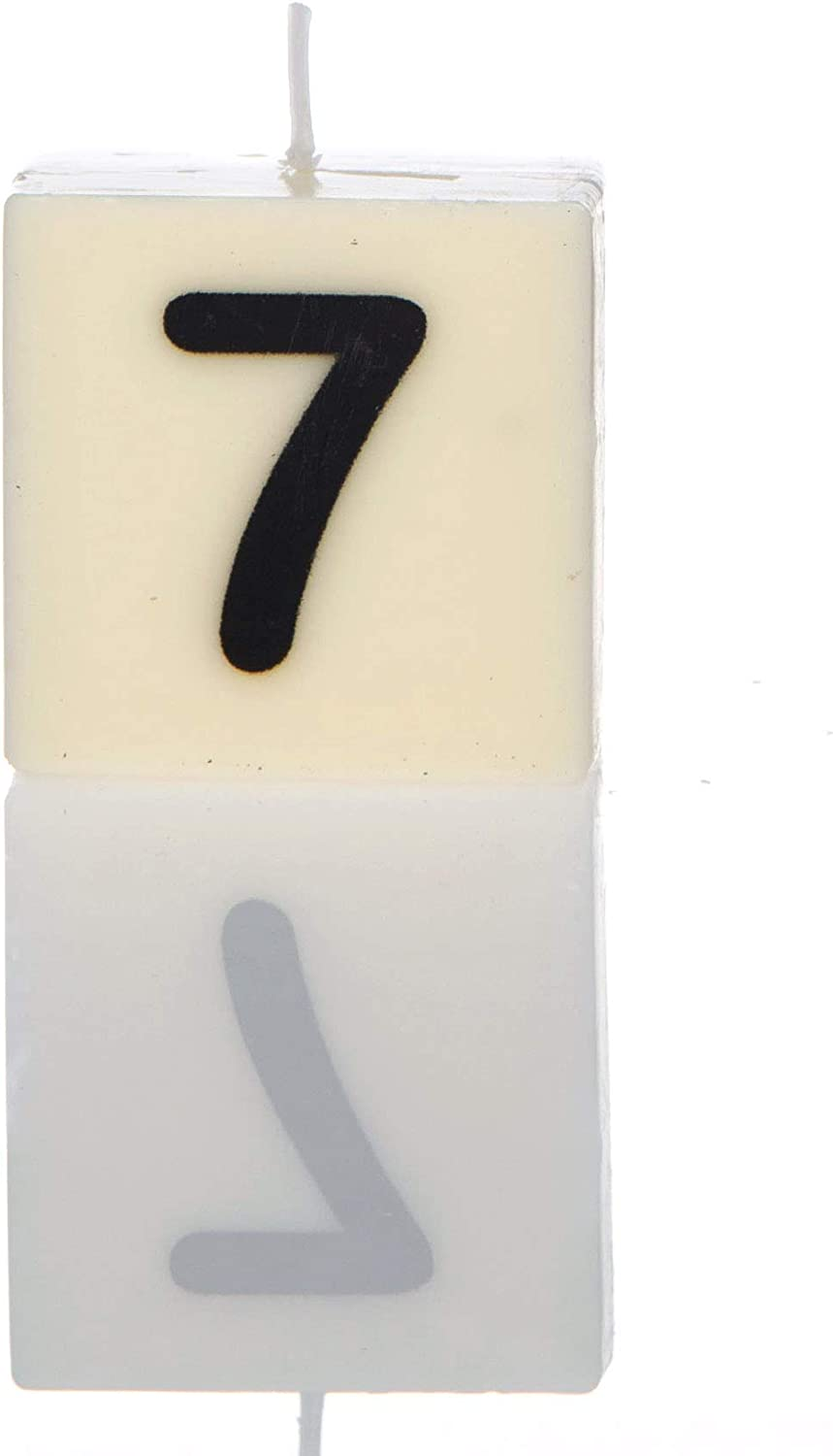 White One Boxer Gifts 9 Numbered Candle