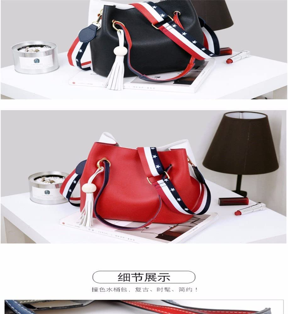 GAOQIANGFENG Slash bag with wide shoulder straps,gules