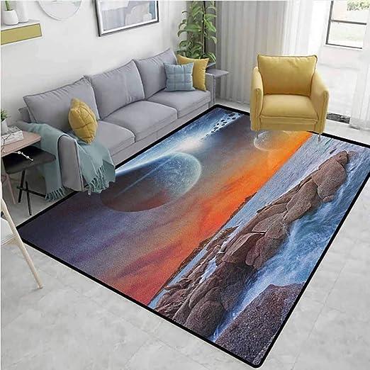 Amazon Com Yucouhome Galaxy Striped Bath Mats For Floors Planet