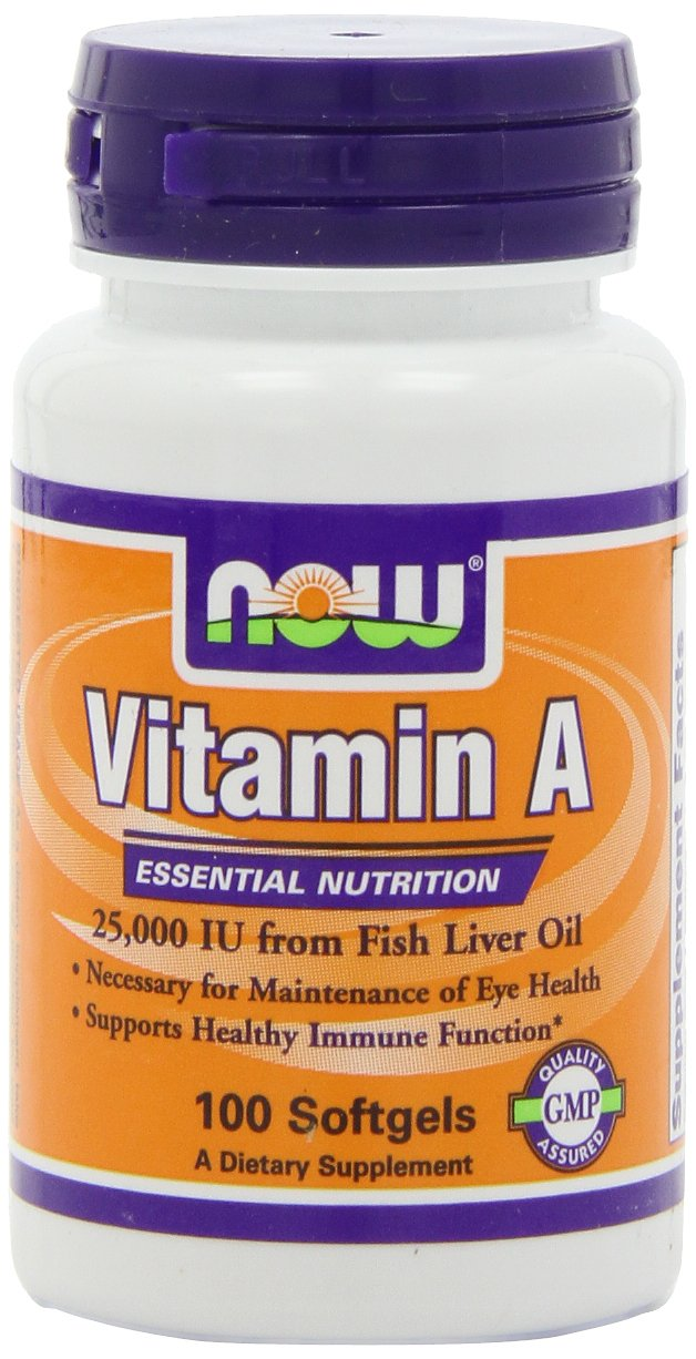 Now Vitamin A 25,000 Iu, 100 Softgels (Pack of 4)