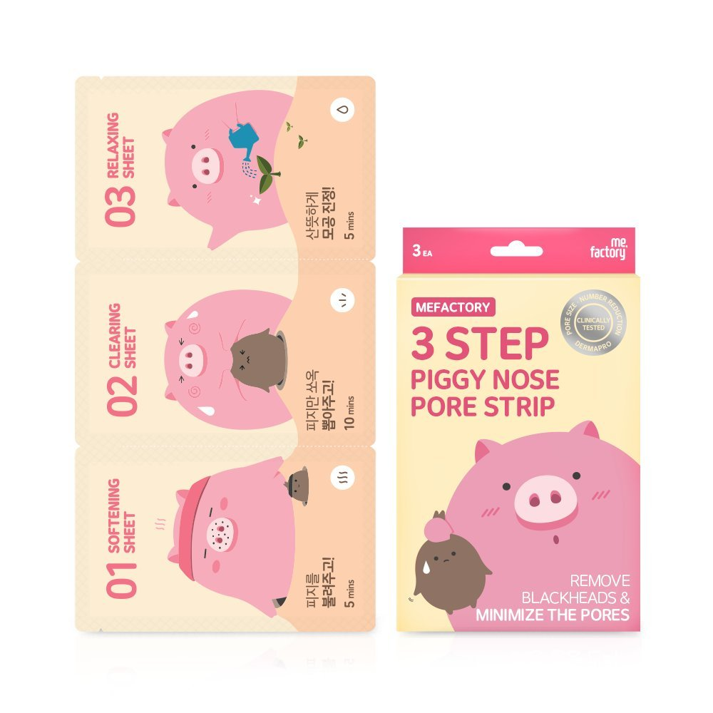 3Step Piggy Nose Strip - pore minimizer - 3EA Box by Mefactory