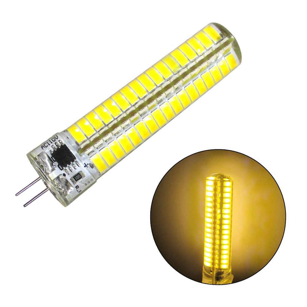 GRV 7W G4 136-5730 SMD LED Bulb G4 Bi-pin Base AC 110V 120V Silicone Crystal Corn Bulb Super Bright Warm White Pack of 2