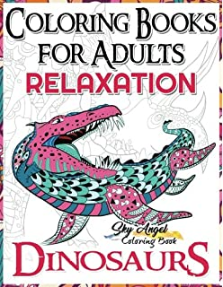 Coloring Books For Adults Relaxation Dinosaur Book Dinosaurs
