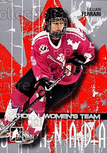 (CI) Gillian Ferrari Hockey Card 2007-08 ITG O Canada (base) 30 Gillian - Ferrari Canada