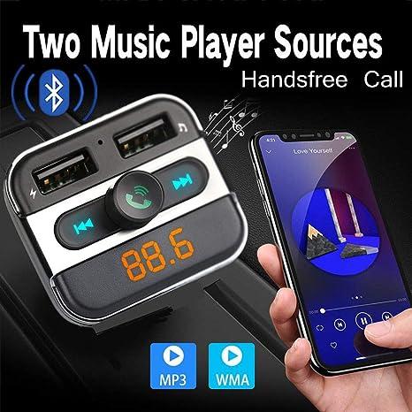 Handsfree FM Transmitter Wireless Bluetooth Car Kit Radio MP3 Player USB Charger