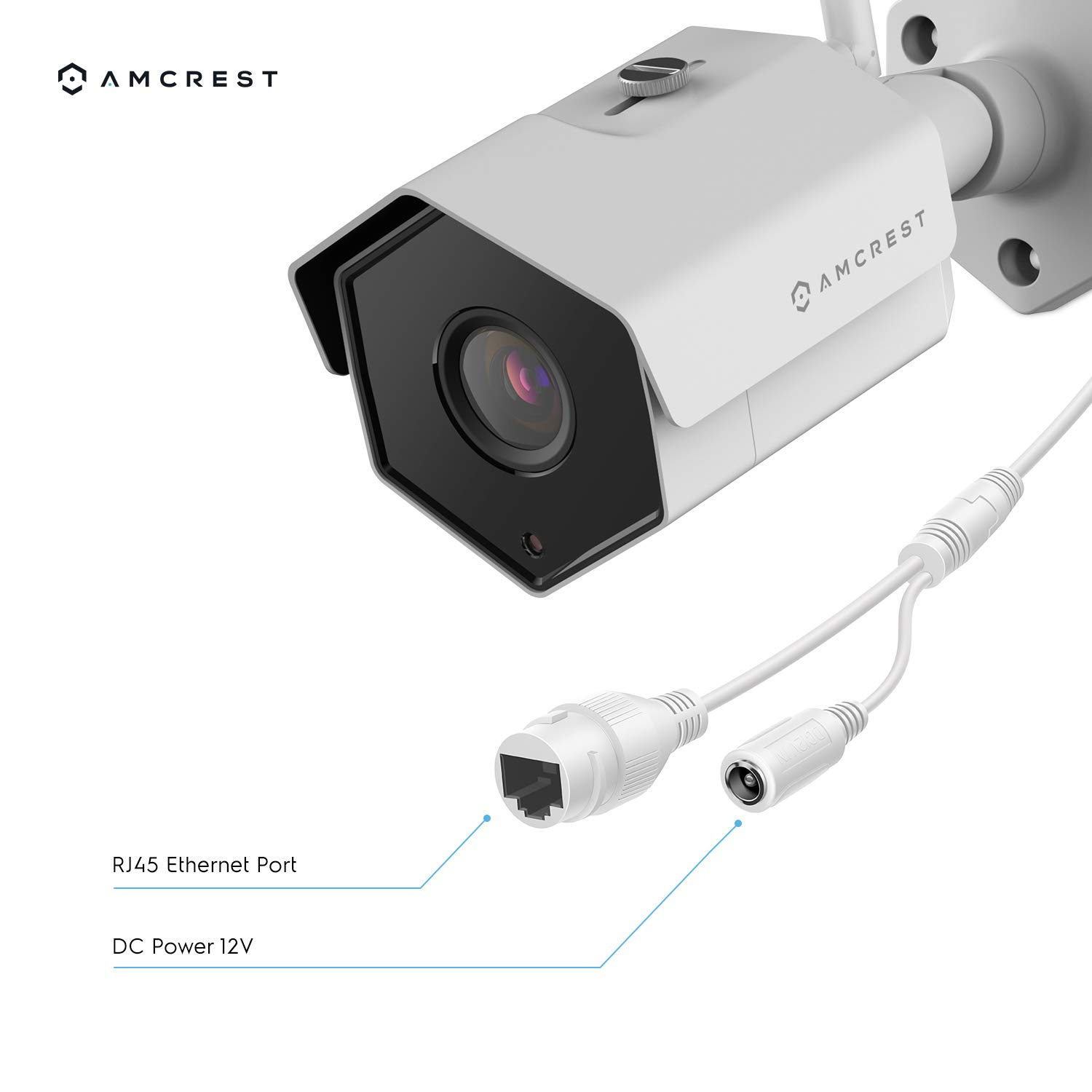 118/° Viewing Angle 98ft Night Vision Amcrest 4MP WiFi Wireless Outdoor Camera 2688 x 1520p Bullet Security IP Outdoor WiFi Camera IP67 Waterproof White IP4M-1026W MicroSD Recording