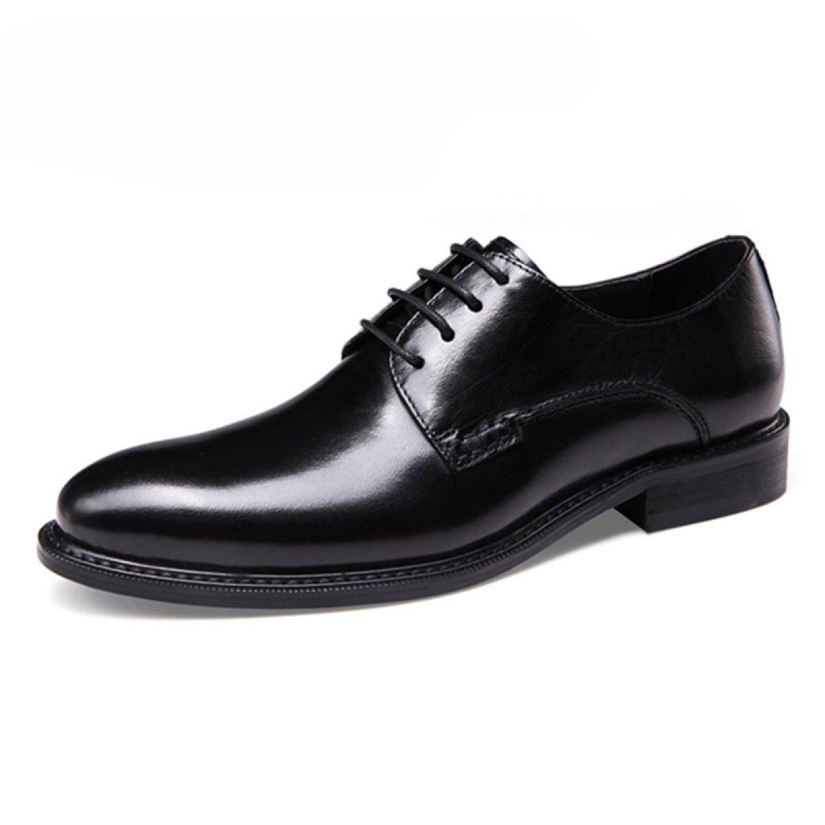 GRRONG Men sbquo;s Britischen Wind Freizeitschuhe Geschauml;ft Hochzeit Schuhe  38|Black