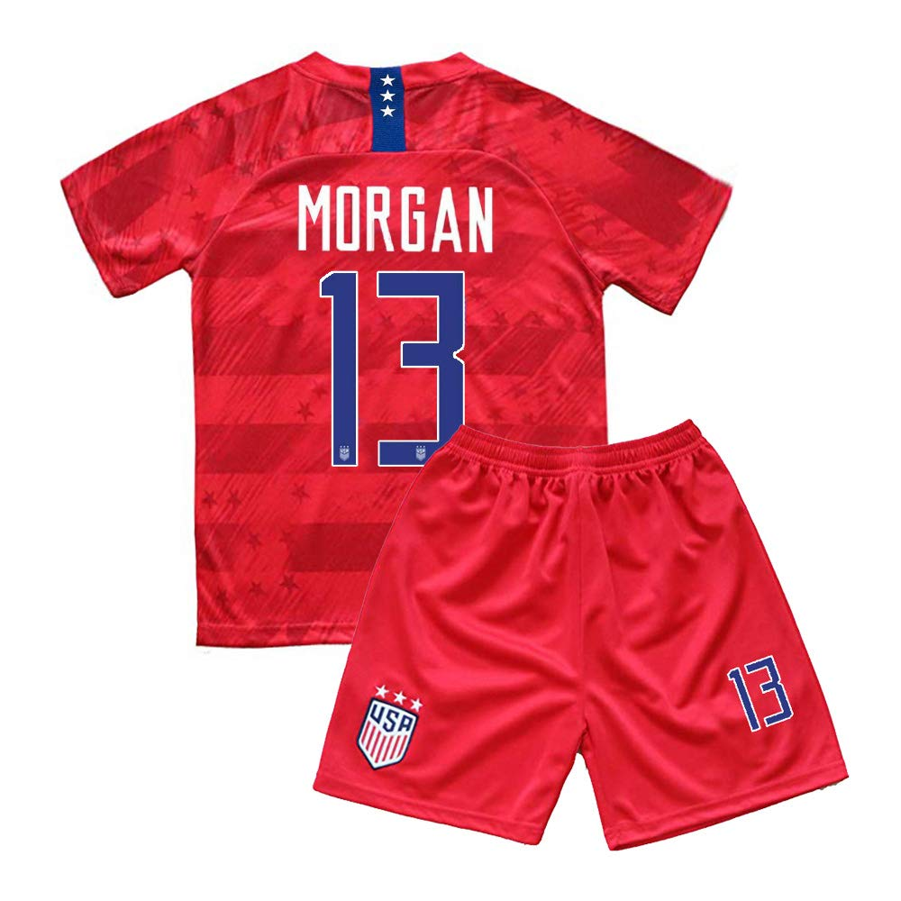 watch b94e2 b083a Kids Morgan 13 USA National Alex Girls Home 2019/20 Youth Jersey