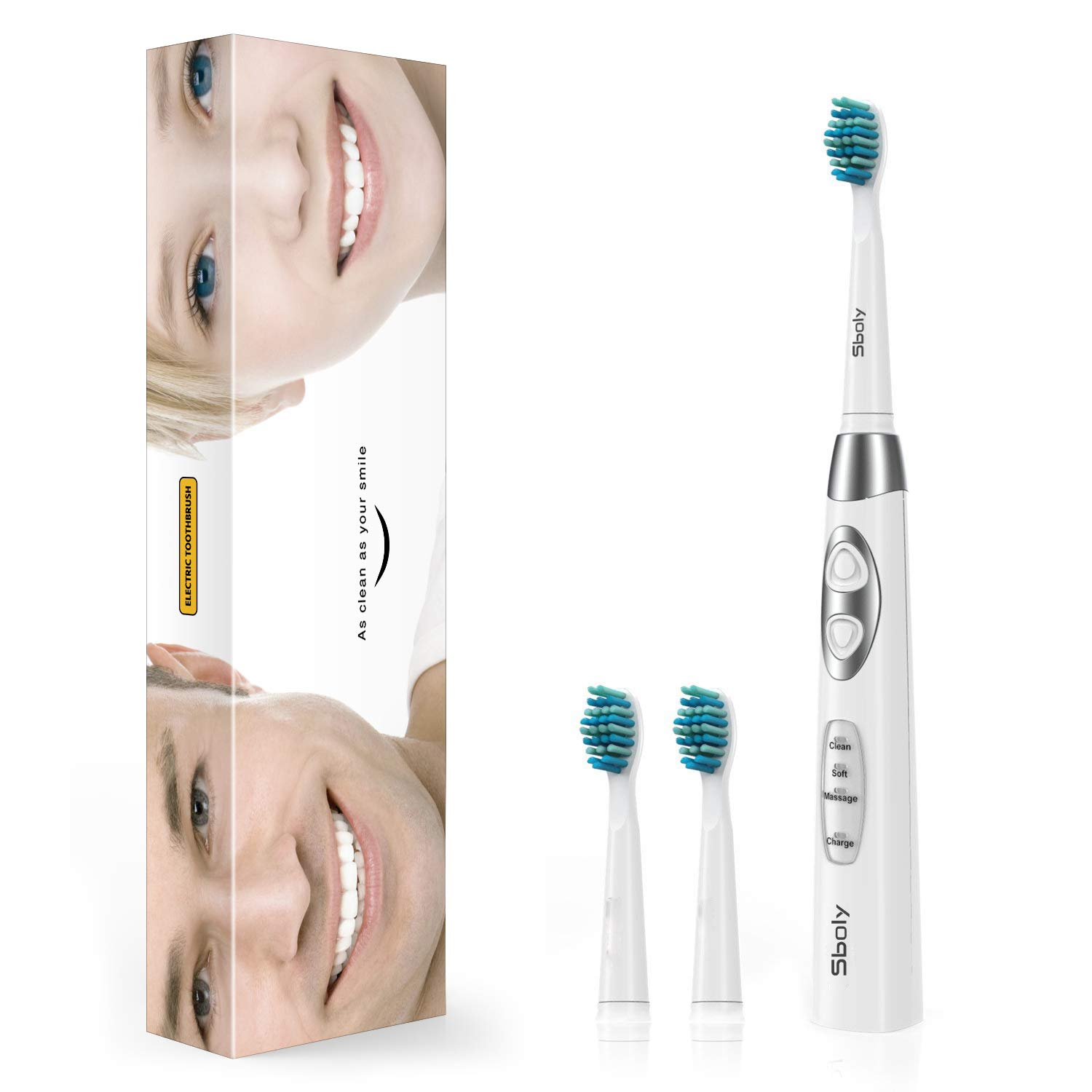 Amazon Com Sonic Electric Toothbrush Sboly Powered