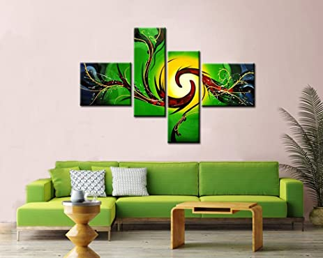 Amazon.com: Noah Art-Modern Abstract Art, 100% Hand Painted with ...
