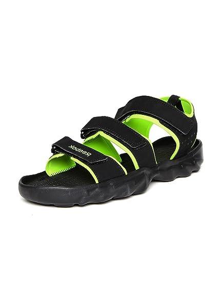 1d2a06721 Reebok Men s Ultra Chrome Black   Neon Green Sandals   Floaters (7 ...