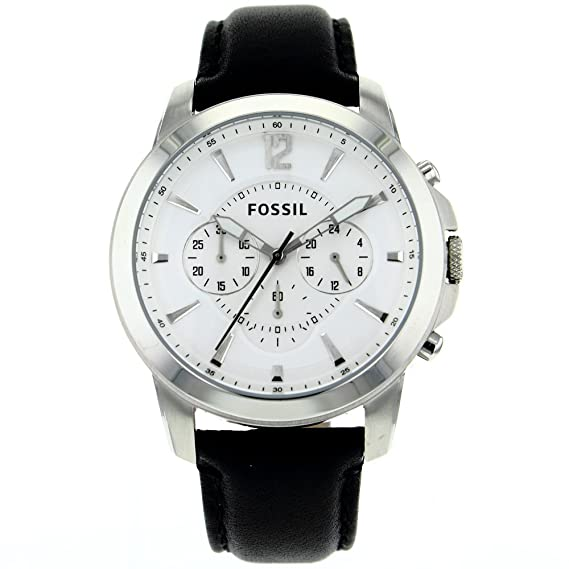 Amazon.com: Fossil Mens FS4647 Stainless Steel Analog Silver Dial Watch: Fossil: Watches