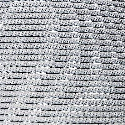 3/8'' 14400lb Galvanized Aircraft Cable Steel Wire Rope 7x19 (200 Feet)