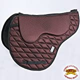 HILASON TA209A ENGLISH TREELESS MEMORY FOAM SADDLE PAD WITH ANTI-SLIP - BROWN
