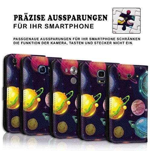 Wallet Book Style Flip Handy Tasche Case Schutz Hülle Schale Motiv Etui für Apple iPhone 4 / 4S - Design Flip MVD233