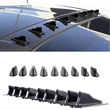 Car Auto Roof Spoiler Bumper Black Shark Fin Diffuser Wings Accessories