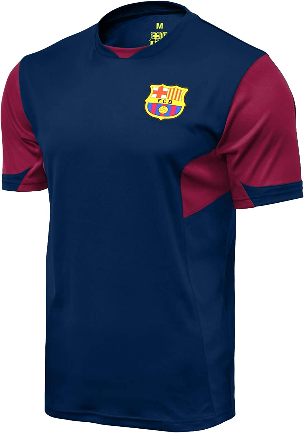 Icon Sports Men FC Barcelona Officially Licensed Soccer Poly Shirt Jersey -07