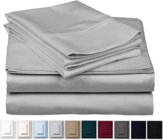Superior Egyptian 100/% Cotton Plain White 400 Thread Count Fitted Sheets by AWL