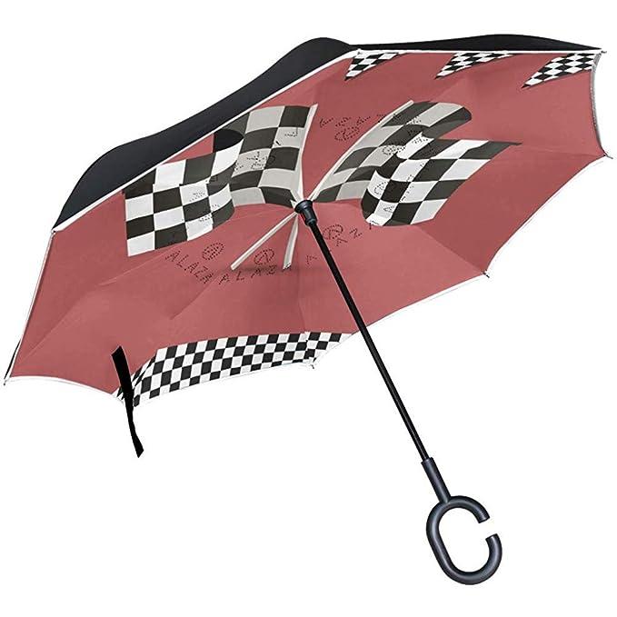 Bandera a Cuadros Paraguas invertido Reverso automático ...