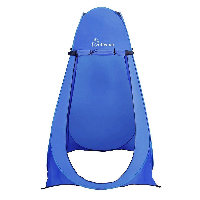 WolfWise Tienda de Campa/ña Tent Abrir Cerrar Autom/áticamente Pop Up Portable Sirve Para Camping Playa Bosques Zonas de monta/ña Ducha Aseo Carpas,Azul
