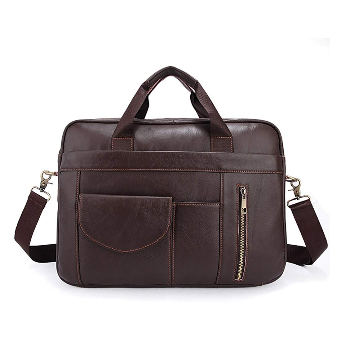Color : AS Photo RABILTY Mens Business Bag Multi-Function Large Capacity Briefcase Leather Shoulder Bag