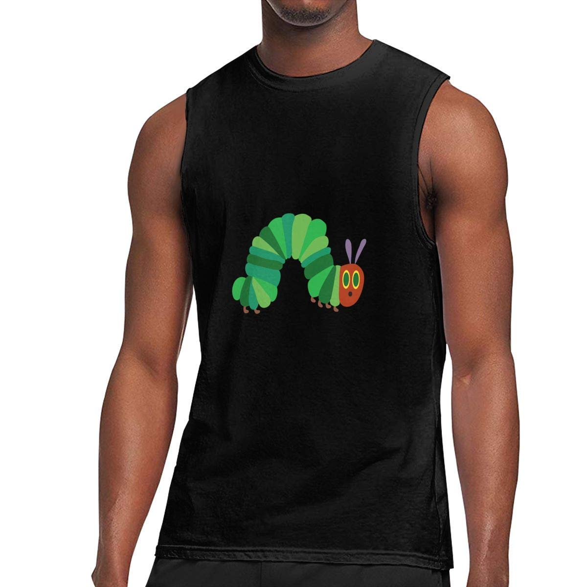 Sleeveless T Shirt The Very Hungry Caterpillar Workout Tank Tops Gym Bodybuilding Tshirts Black