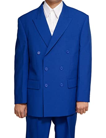 New Double Breasted (DB) Royal Blue Men's Business Dress Suit at ...