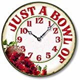 Cheap Item C8902 Vintage Style 12 Inch Cherry Casual Kitchen Clock