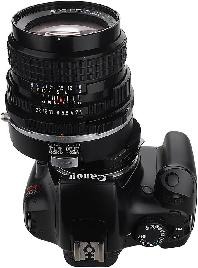 EF, EF-S Mount SLR Lens to Canon EOS Fotodiox Pro TLT ROKR with Gen10 Focus Confirmation Chip P67, PK67 Mount D//SLR Camera Body Tilt//Shift Lens Mount Adapter Compatible with for Pentax 6x7